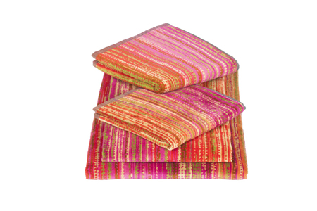 Pink Grass Bath Sheet 100x150