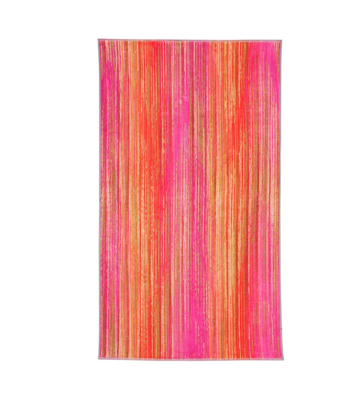 Beach Towel Pink Grass 100x180