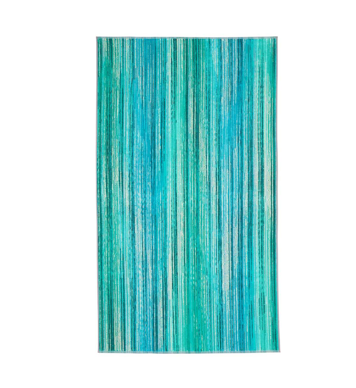 Beach Towel Green Grass 100x180