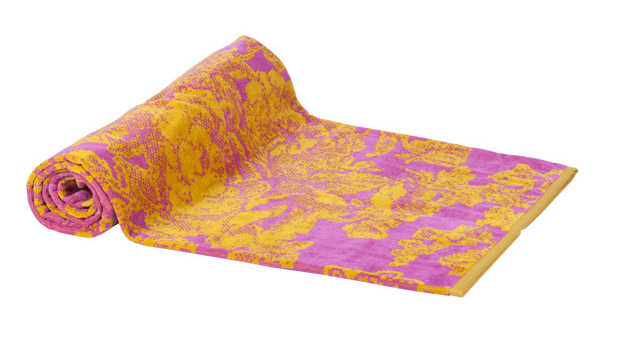 Beach Towel Fuchsia Ancient Flowers 100X180