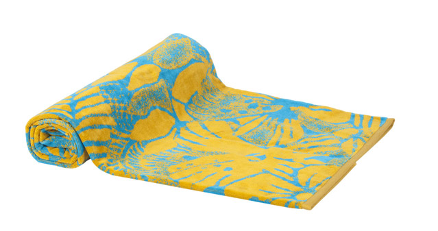 Beach Towel Turquoise Exotic Flowers 100X180