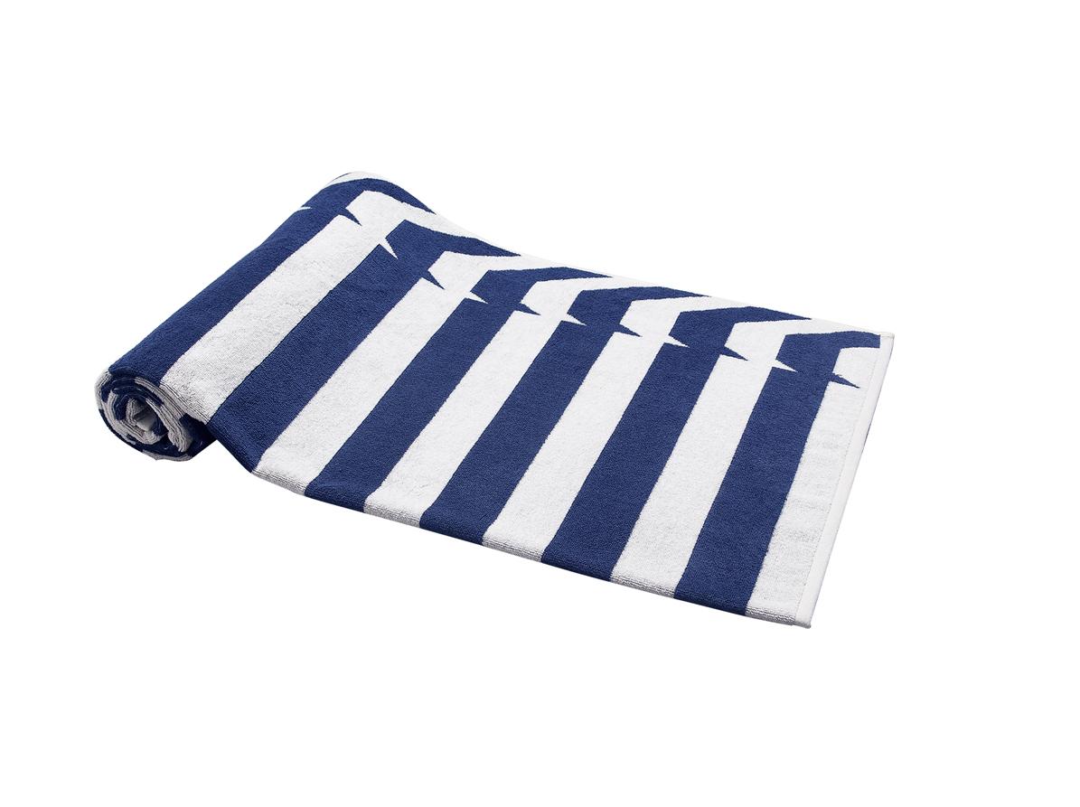 Beach Towel Blue Nautical Stripes 100X180