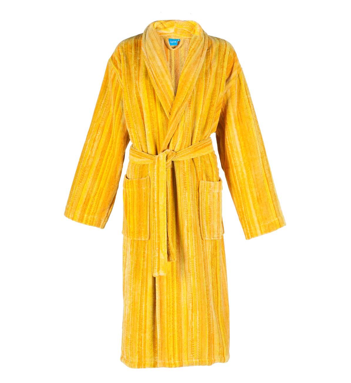 Yellow Shadows Collar Bath Robe (S)