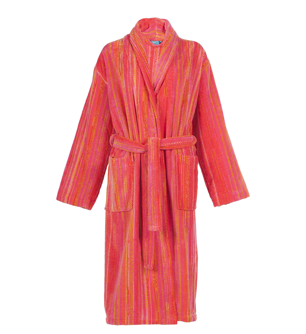 Orange Shadows Collar Bath Robe (S)