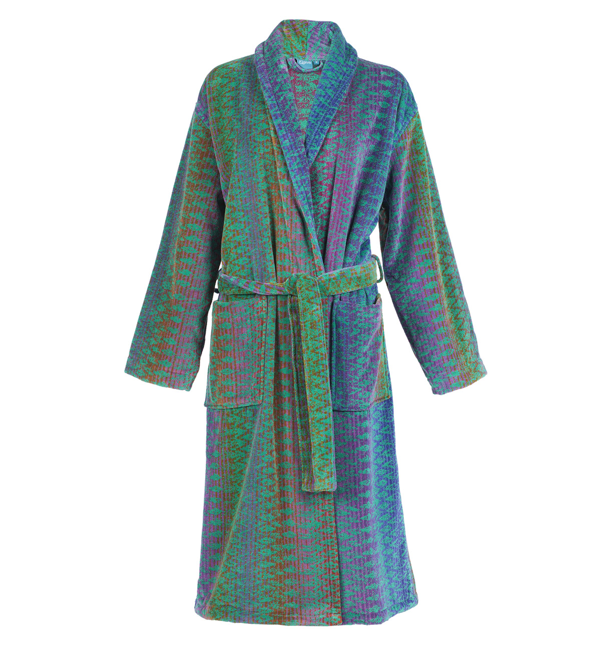 Green Ocean Magic Collar Bath Robe (S)