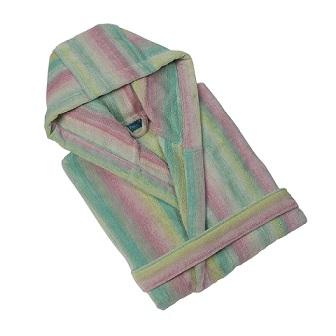 Jade Smoky Mountain Hooded Bath Robe (S)
