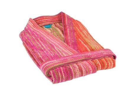 Pink Grass Beach Kimono (S)