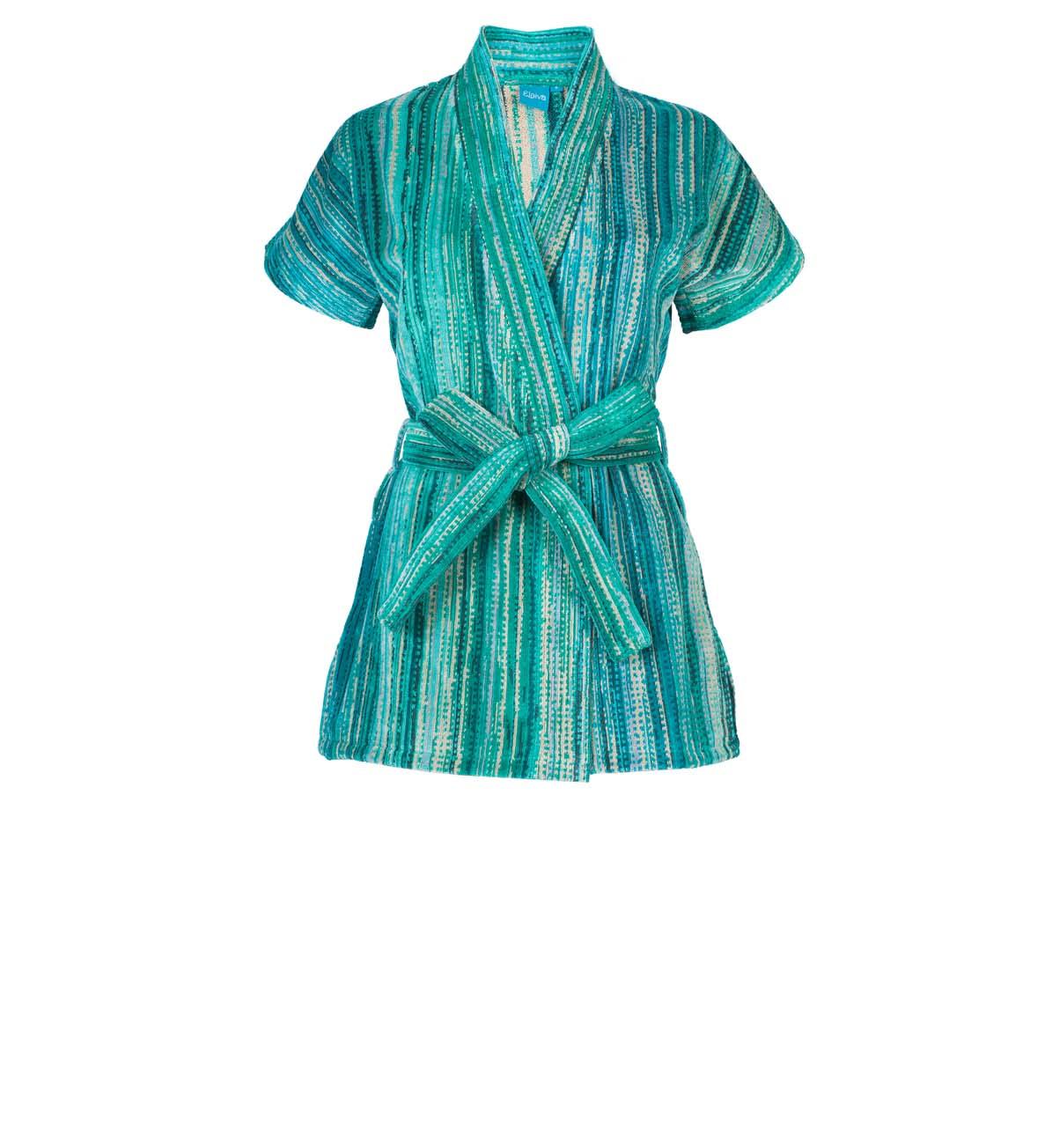 Green Grass Beach Kimono (S)