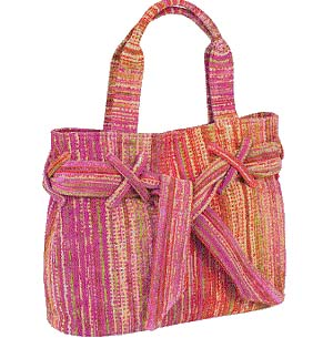 Pink Grass Beach Bow Bag