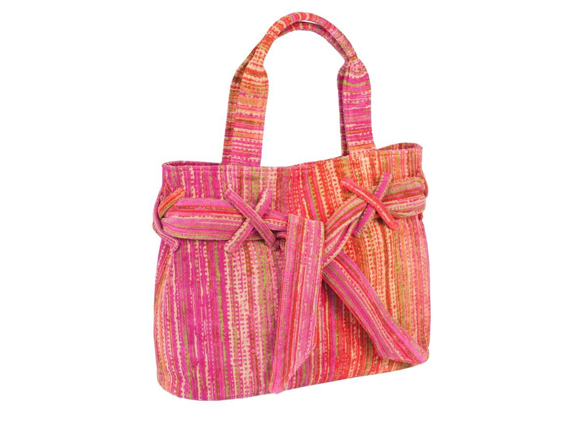 Pink Grass Beach Bow Bag