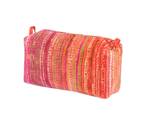 Pink Grass Toilet Bag