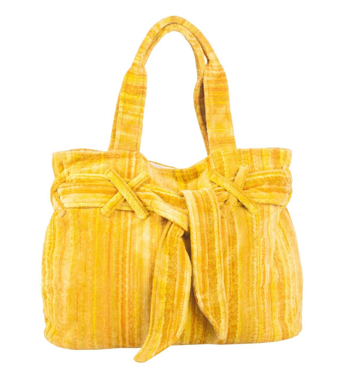 Yellow Shadows Beach Bow Bag