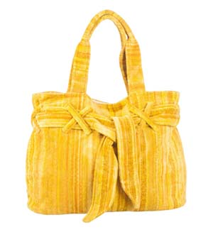Yellow Shadows Beach Bow Bag