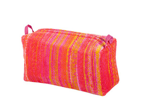 Orange Shadows Toilet Bag