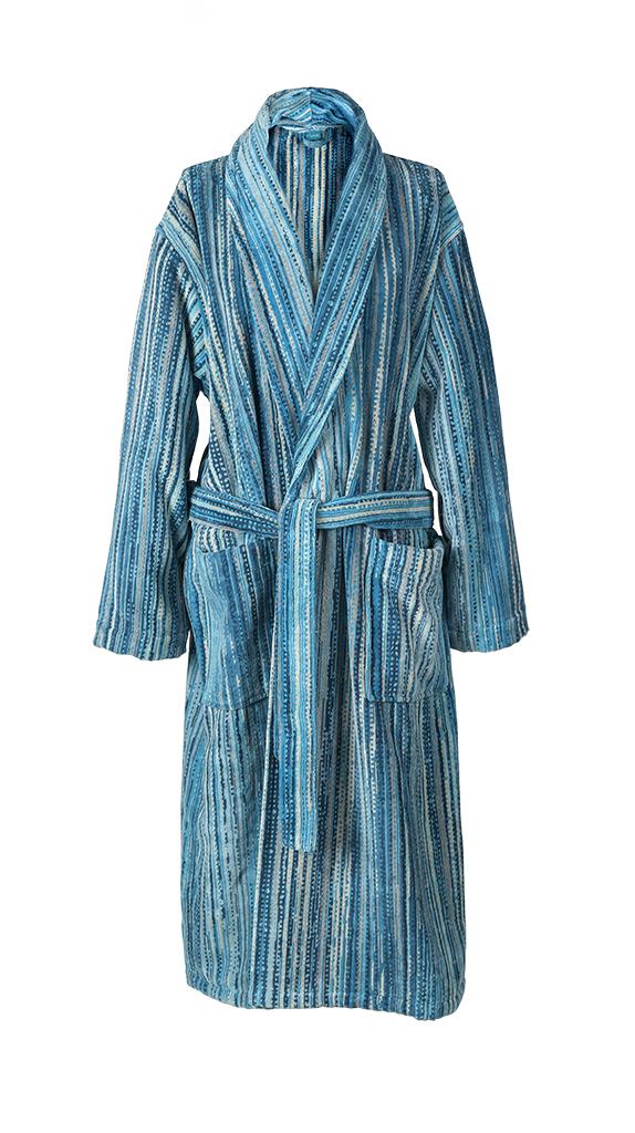 Blue Grass Collar Bath Robe (S)